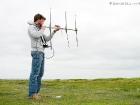 Radio-Telemetrie eines Kükens / Radio-telemetry of a chick