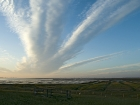 Wolkenstimmung auf der Hamburger Hallig