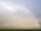 Regenbogen auf der Hamburger Hallig